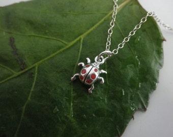 Lucky enamel ladybug