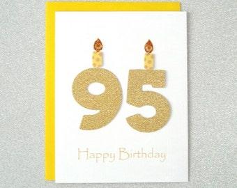 95th Birthday Card, 95th Milestone Birthday Card, 95th Birthday Greeting Card, Ninety Fifth Happy Birthday Greeting Card, The Big 95 Card