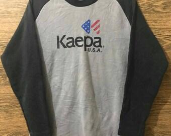 Sale Rare Kaepa long sleave/sweatshirt/Big print Logo spell out/Size Large.