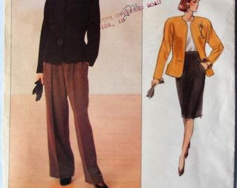 Vogue 2355.  VTG Anne Klein American Designer pattern.  Anne Klein jacket, skirt and pants pattern.  VTG 1989 Anne Klein suit.  Size 6-10.