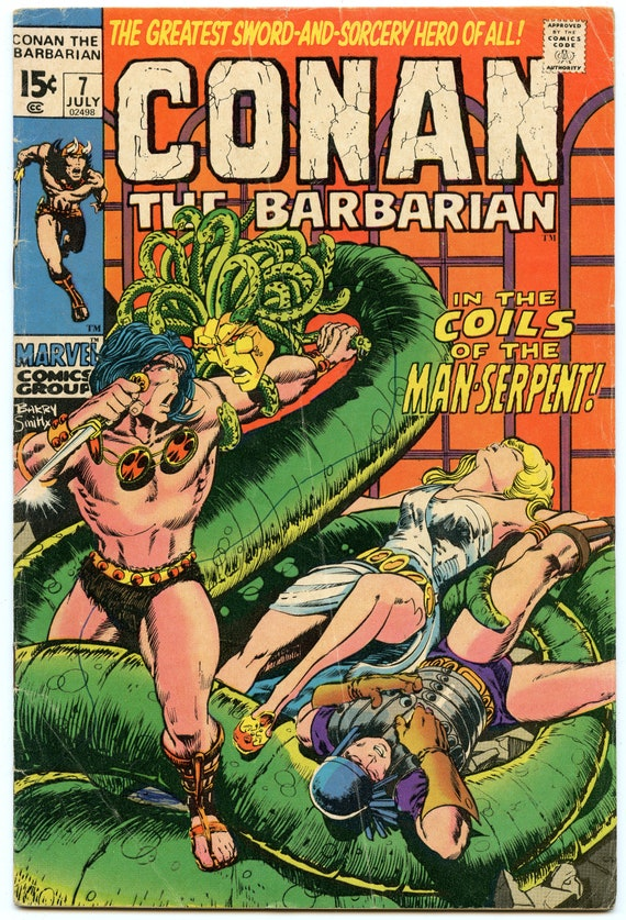 Conan the Barbarian 7 Jul 1971 VG- (3.5)