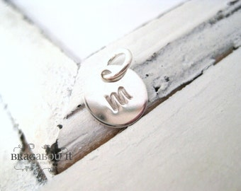 A La Carte . Hand Stamped Sterling Silver Teeny Tiny Disc . Brag About It