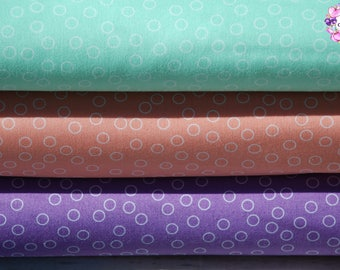 Robert Kaufman Remix Bubble Dot/Peach,Mint or Crocus/Cotton/Fabric/Sewing/Quilting