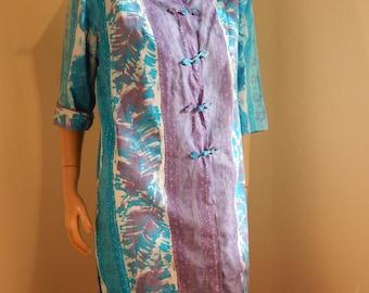Vintage hawaiian muumuu dress, all cotton