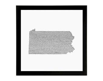 Pennsylvania State Love Art Print