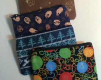 Knitting Crochet Small Zippered Case