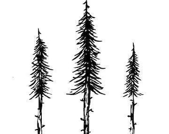 Pine Trees - printable download
