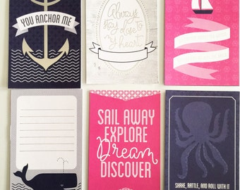 Journal / Project Life-inspired Cards: Sweet & Nautical!