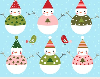 Snowman clip art, Winter clipart, Christmas snowman digital download