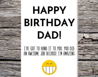 Daughter to dad card etsy dad birthday card funny dad birthday card funny happy birthday card for dad from bookmarktalkfo Image collections