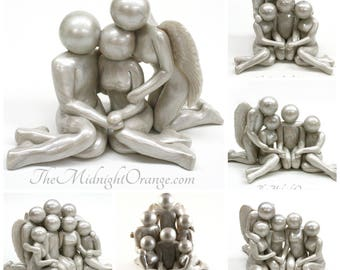 Bespoke Family - Loss of Parent, Sibling, Adult Child, or other loved one memorial - bereavement gift -  made to order you choose genders
