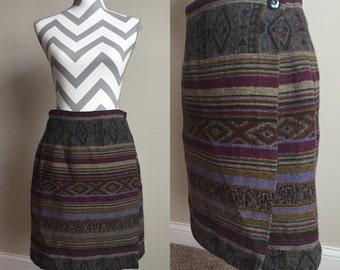 Vintage Wrap Skirt Size 12