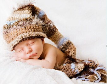 Baby Boy Hat - Baby Girl Hat - Amazing Textured Baby Stocking Hat - You Chose Accent