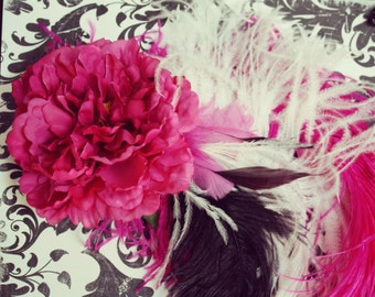 Feather Fascinator - Pretty in Pink
