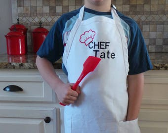 Kids aprons Chef apron with name embroidered personalized apron Cooking aprons, Children's apron