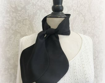 Women's Scarf - Black Chiffon Scarf - Black Fashion Scarf - Neck Scarf - Scarflette - Hair Scarf - Fashion Scarves - Handmade in the USA