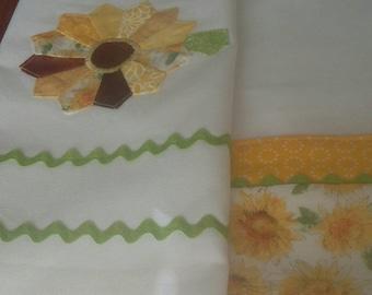 Sunflower tea towel set
