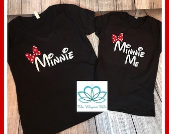 Minnie mouse mommy and me, Minnie me shirts, mommy and me shirts, Disney shirts, Minnie Mouse, mither daughter shirts