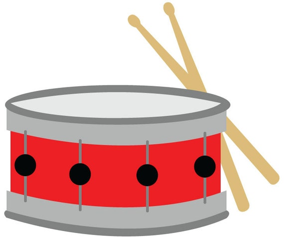 snare drum clip art red snare drum with drumsticks vector rh etsy com drum clipart silhouette drum clipart black and white