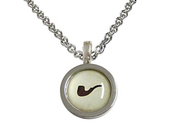 Bordered Smoking Pipe Necklace