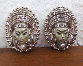 Große Selro Stil Ohrringe, wohl 1940er Jahre