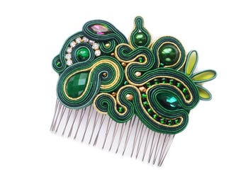 Isobelle- original hair comb- soutache ! Decorative Combs, Hair Accessories, pettine decorativo, peigne décoratif, sierkam