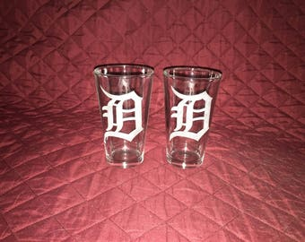 Detroit Tigers Hand Etched Pint Glasses!