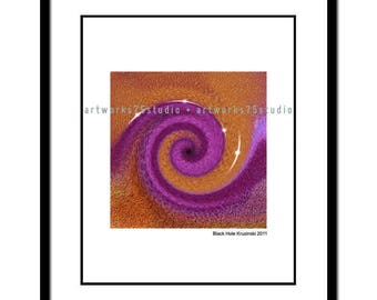Black Hole - Original art available as an 8x10 print suitable for framing