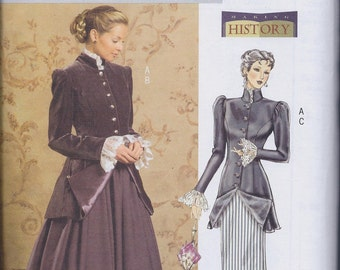 Butterick 4954 Misses Women's Victorian Edwardian Steampunk Costume Suit Skirt Jacket UNCUT Sewing Pattern