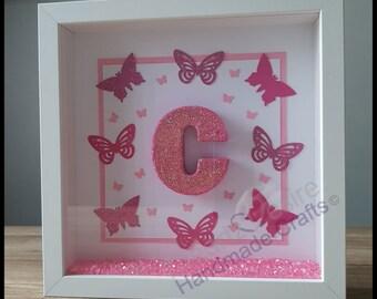 Personalised Baby Girl Box Frame / Perfect gift for New Baby / Birthday / Baby Shower / Keepsake