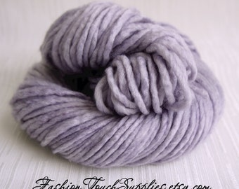 SALE Thick HandSpun Yarn, Bulky Yarn, Lavernder Dream, HandDyed Yarn, Bulky Handspun Yarn Crochet supplies, Knitting supplies