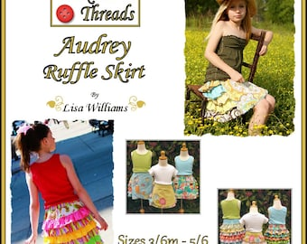 INSTANT DOWNLOAD: Audrey Ruffle Skirt - DiY Tutorial PdF eBook Pattern - Sizes 3/6M to 5/6