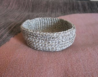 Utensilo Basket Crochet CA 18 x 6 cm/round