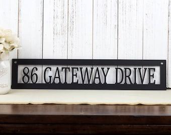 Metal Address Sign | Custom Metal Sign | House Number | Address Plaque | Outdoor Address | Outdoor House Number | Metal Sign | House Number