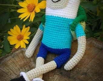 Finn the Human Crochet Toy Adventure Time doll Finn and Jake from Loren Ver  Will be made JUST FOR YOU