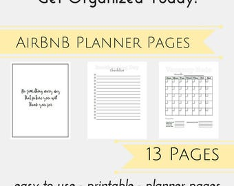 AirBnB Organizer PDF, AirBnB Host Planner Pages, Business Planner, Income Property, Property Management Worksheet, Printable Planner Page