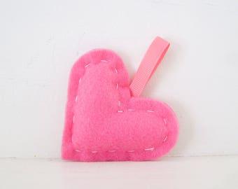 FELT HEARTS - Pink Felt Heart ORNAMENT - Valentines Day Felt Hearts - Felt Valentines Day Hearts - Felt Hearts - Valentines Day Ornament