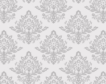 Velvet Damask from the Paris line by David Textiles. 100% Cotton Quilt Fabric.