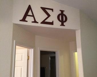 Unpainted Wooden Greek Letters, Alpha, Beta,Delta,Kappa,Theta,Omega,Zeta, Pi, Sigma - any greek letters - any size