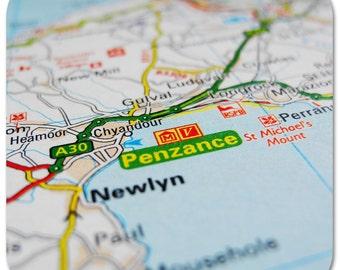 Penzance Map Coasters