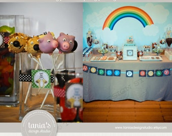 Noah's Ark Printable Birthday Party Package by tania's design studio