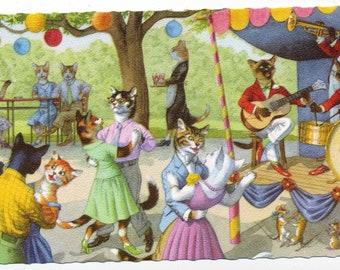 Mainzer Cats Postcard - Kitties Doing Human Activities - Kitties Dancing