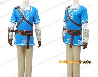 Men's Legend of Zelda Breath Wild Link Cosplay whole costume