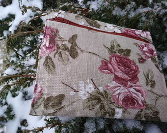 Small Linen Pocket Bag (for Keeping Love Notes, Passport, Cosmetics etc.)