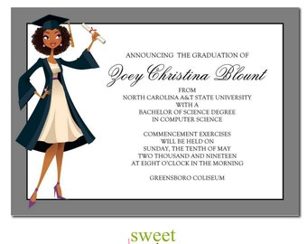 African american party invitation african american birthday african american graduation announcement jade natural african american party invitation graduation party invitation stopboris Choice Image