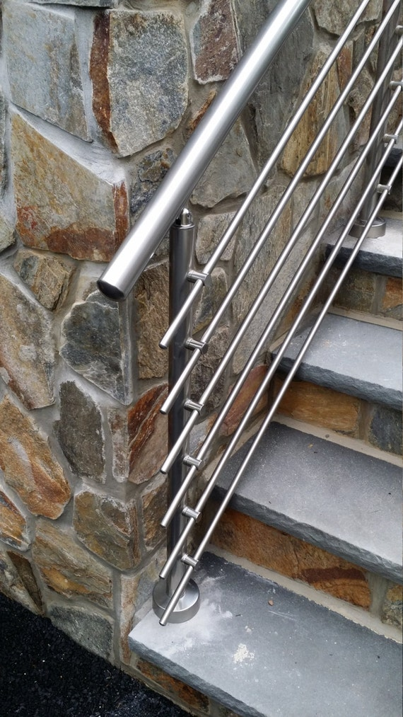 Modern Stairs Balcony Backyard Porch Patio Hand Rail Staircase Railing Kit    Aluminium Top Connected From RailingCO On Etsy Studio