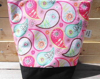 Insulated Lunch Bag - Pink Paisley