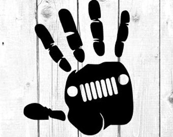 Jeep Wave Decal / Jeep Hand Decal / Decal for Jeep / Wave Decal