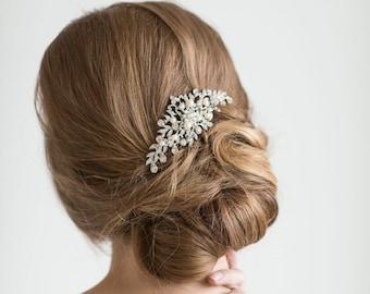 Bridal Pearl Hair Comb, Wedding Hair Comb, Crystal & Pearl Hair Comb, Bridal Head Piece