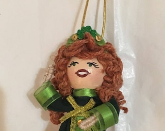 Irish Dancer clothespin doll free shipping in USA